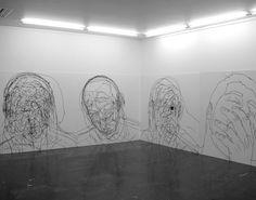 contemporary-art-blog: Moises Mahiques artist from Spain. Tras cabeza exhibit, Galeria Luis Adelantado Valencia.Contemporary-Art-Blog