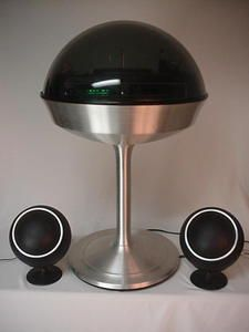 Vintage Electrohome Apollo 712 FLOOR MODEL DOME STEREO Space Age 1971