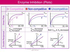 competitive vs noncompetitive inhibition km vmax - Google Search Science Notes, Science Education, Life Science, Doctor Of Osteopathic Medicine, V Max, Med School, Pharmacology, Baccalaureate