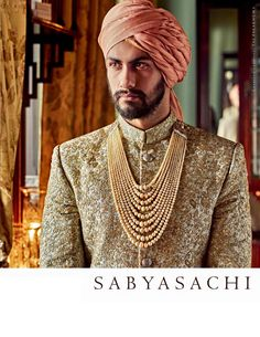 Sabyasachi sherwani and perfect groom look Wedding Dresses Men Indian, Wedding Dress Men, Wedding Men, Wedding Groom, Wedding Attire, Wedding Trends, Wedding Outfits, Bride Groom, Mens Sherwani