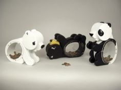 19-W3458 - Baby Bear Coin Banks Woodworking Plan