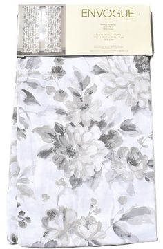"""ENVOGUE Floral French Country Peonies Grey Beige Window Curtain Panels PAIR 96"""" #Envogue #Contemporary"""