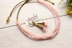 Golden Necklace, Gemstone Necklace, Necklace Set, Beaded Choker, Pastel Pink, Handicraft, Antique Gold, Earring Set, Jewellery