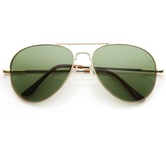 Large Premium Metal Aviator Sunglasses W/ Spring Temples 1377 ($19) ❤ liked on Polyvore featuring accessories, eyewear, sunglasses, lens glasses, uv protection glasses, metal-frame sunglasses, uv protection sunglasses and aviator sunglasses
