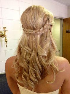 Beautiful braids and curls