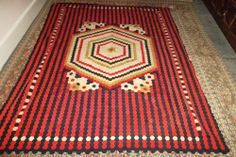 Rare Soldiers quilt - patchwork made from uniform - probably Crimean war