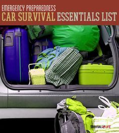 Emergency disaster preparedness for when you're on the go. Survival Life is the best source for prepper survival gear and tips. Emergency Preparedness Kit List, Car Survival Kits, Survival Essentials, Emergency Preparation, Survival Life, Disaster Preparedness, Survival Prepping, Survival Gear, Survival Skills