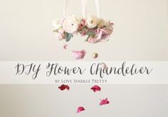 I am so excited to collaborate with Afloralto bring you this fun (and oh  so pretty) DIY Flower Chandelier! You can create this piece for your next  event or even just hang it as a mobile in your little girls nursery. If you  aren't a fan of DIY, don't worry, you can purchase the ever so popular
