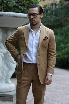 Cotton suit without tie