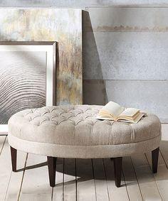 Love this Linen Tufted Bench on #zulily! #zulilyfinds