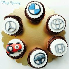 Father's day car theme cupcakes