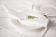 Wedding Napkins – White Linen napkins 35 x 35 cm – a unique product by linenhomeshop on DaWanda