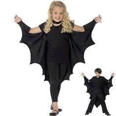 KIDS Black Vampire BAT WINGS CAPE Girls Boys Halloween Fancy Dress Costume. $11.00 FOR boys and girls