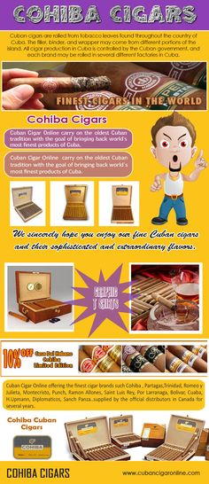 There are various sites where you can find all the best Cuban brands at affordable prices, plus information that will help you to decide on the best cigars to buy. Browse this site http://www.cubancigaronline.com/cuban-cigars/cohiba-cuban-cigar for more information on Cohiba cigars. Ranging in a number of sizes and styles, Cohiba cigars cover the bases for all kinds of personal tastes or preferences. Follow Us: http://cohiba-cigars.sitefly.co/