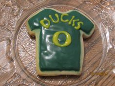 Oregon Ducks Sugar Cookies