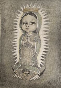 Childhood, Female, Painting, Art, Virgen De Guadalupe, Art Background, Infancy, Painting Art, Paintings