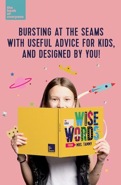 Personalised unique gift idea for Kids. Wise Words is a collection of quotes and advice for children of all ages, made by you!