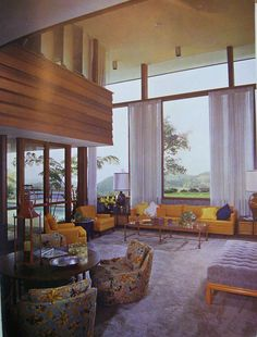 original living room, trousdale estates https://www.facebook.com/pages/OVER-THE-TOP-the-Architectural-History-of-Trousdale-Estates-Beverly-Hills/325296184579.