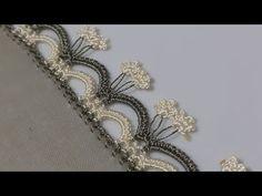 Crochet Edging Patterns, Crochet Borders, Crochet Crafts, Crochet Lace, Saree Kuchu Designs, Bargello, Hand Embroidery Designs, Needlework, Diy And Crafts