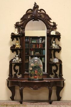 Victorian Carved Etagere or Curio Display Decor, Vintage Furniture Diy, Beautiful Furniture, Furniture Decor, Vintage Furniture, Retro Furniture, Victorian Furniture, Furnishings, Ornate Furniture