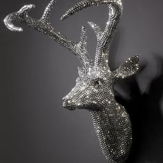 ACHICA | Eclectic Art & Objects - Star Studded Stag, 43 x 43 x 22cm