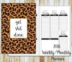 2016/2017 Weekly Planner- Leopard GSD