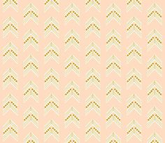 blush gold chevron fabric by eivie&co on Spoonflower - custom fabric
