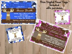 Camouflage Moose Invitation Birthday or Baby by CreatinVitations