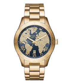 Blue Layton Watch by Michael Kors #zulily #zulilyfinds