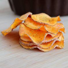 Chips patates sucrées micro-ondes