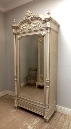 antique French single door armoire
