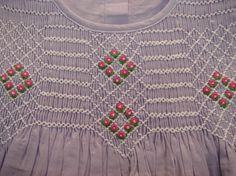 Little Rose Collection: Hand-Embroidery Smocked dress от BIBIDOAN