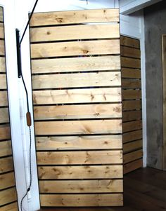 Steel-framed slatted closet doors