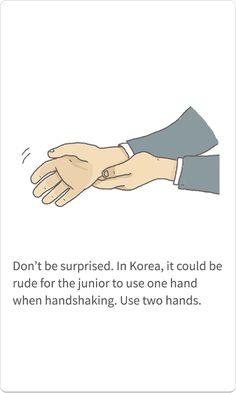 (QUESTION 5) There are many rules to greeting other businessmen in public. Juniors should greet seniors with two hands to show respect. Men bow to each other before and after a meeting while keeping eye contact, and sometimes shake hands. Women normally just shake hands. In terms of behavior, it is typically respectful to remain as reserved as possible.