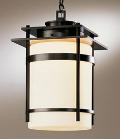 Banded Outdoor Pendant features Opal glass with a Black, Dark Smoke, or Bronze finish. Available in three sizes. One 150 watt, 120 volt A19 type Medium base incandescent bulb is required, but not included. UL listed for damp locations. Small: 7.7 inch width x 12.6 inch height. Medium: 10.8 inch width x 18.4 inch height. Large: 14 inch width x 22 inch height.