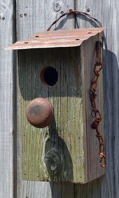 Rustic Birdhouse  Door Knob Birdhouse  Antique by ruraloriginals, $29.95