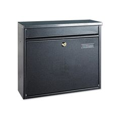 Rottner Hochhaus II Front-Loading Wall-Mountable Mail Box in Anthracite - Opening – – Premium Zinc-Plated Steel Design with Window Name Plate Apartment Mailboxes, Stainless Steel Mailbox, Black Mailbox, Office Organisation, Suggestion Box, Home Safes, Post Box
