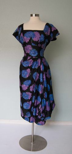 1950s Dorothy OHara Bombshell Cotton Faux por KittyGirlVintage, $340.00