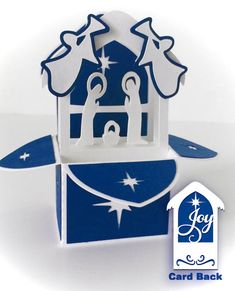 Nativity Card In A Box 3D SVG by MyCasualWhimsy on Etsy                                                                                                                                                                                 More