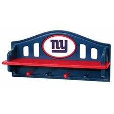 New York Giants Wooden Shelf I thought of my cousin Beatrice when I saw this
