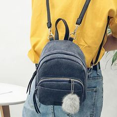Besde Womens Velvet Backpack Pleuche Shoulders Bag Girls mochila Zipper Bags School Bag Gray A -- You can get additional details at the image link. (This is an affiliate link) Diaper Bag Backpack, Small Backpack, Mini Backpack, Mini Bag, Backpack 2017, Leather Backpack, Fashion Packaging, Zipper Bags, Famous Brands
