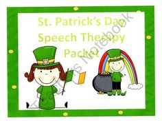 St. Patricks Interactive Language and Articulation Speech Therapy Packet product from Speech Time on TeachersNotebook.com