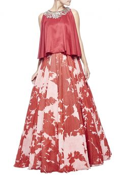 Shop Manish Malhotra Light pink & red floral printed embellished lehenga set , Exclusive Indian Designer Latest Collections Available at Aza Fashions Stylish Dress Designs, Stylish Dresses, Fashion Dresses, Indian Designer Outfits, Indian Outfits, Designer Dresses, Simple Pakistani Dresses, Pakistani Dress Design, Long Skirt Outfits