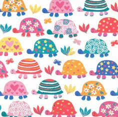 Birthday card - 'Colourful Turtles'