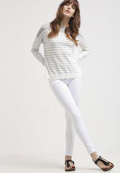 Zalando Essentials Jumper - light grey/offwhite for with free delivery at Zalando Off White, White Jeans, Jumper, Best Gifts, Grey, Free Delivery, Pants, Fashion, Moda