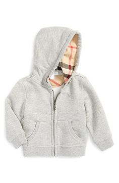 Burberry Full Zip Hoodie (Baby Boys) available at #Nordstrom