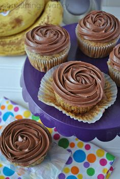 PB Cup Banana Cupcakes-seriously, the best website I have ever seen
