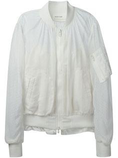 Sacai Luck Poli Chiffon Bomber Jacket - Feathers - Farfetch.com