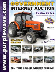 Government Auction October 7, 2014 http://purplewave.com/a/141007