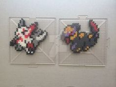 #335-#336 Zangoose and Seviper Perlers by TehMorrison